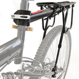 Quick Release Seat Post Mount with Frame Support Rear Bike Cargo Rack
