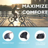 Lumintrail Oversize Comfort Bike Seat Universal Fit Wide Saddle for Outdoor and Exercise Bikes