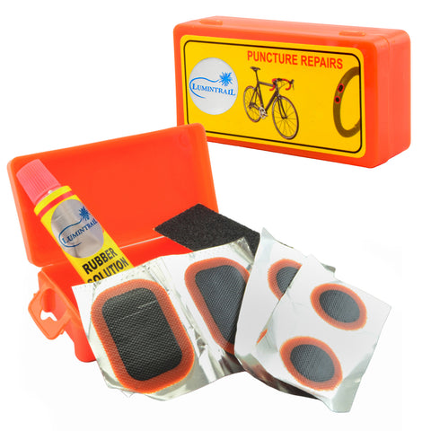 Bike Tire Patch Kit with Rubber Patch Cement