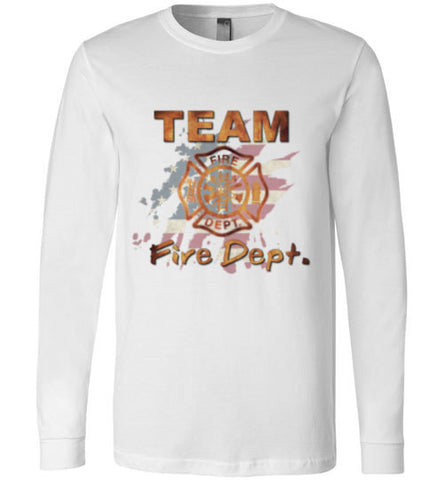 Team Fire Dept. Canvas Long Sleeve T-Shirt