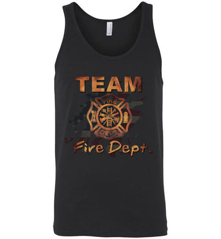 Team Fire Dept. Canvas Unisex Tank
