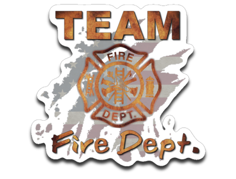 Team Fire Dept. Standard 4x3 Decal