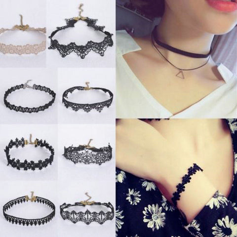 16 style Women Crystal Tassel Multilayer Choker Necklace