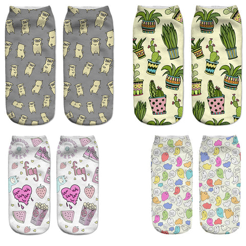 3D Women's Creative Printed Socks