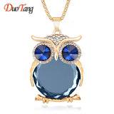 Trendy Owl Necklace Rhinestone Crystal Necklaces & Pendants 8 Colors