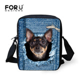 Cute Denim Pet Cat or Dog Travel Shoulder Bags Many Styles