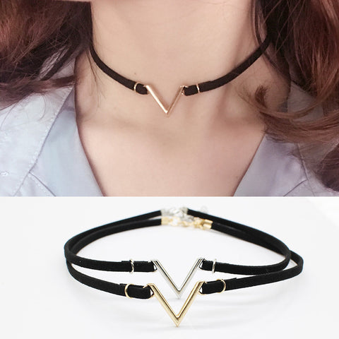 V  Shape Choker Necklaces & Pendants for Women