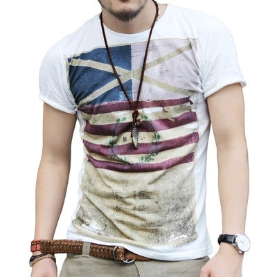 Mens Summer Tops Tees Short Sleeve T-shirt