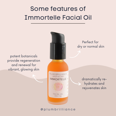 immortelle facial oil benefits