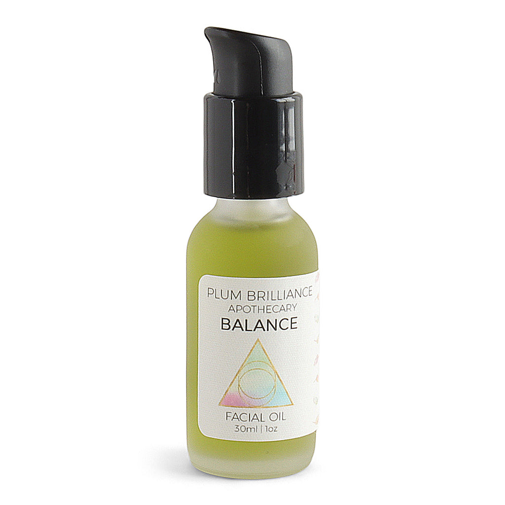 balance wildcrafted yarrow and elderflower facial treatment oil