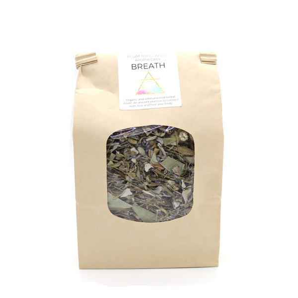 wildcrafted sage and eucalyptus lung steam for breathing by Plum Brilliance