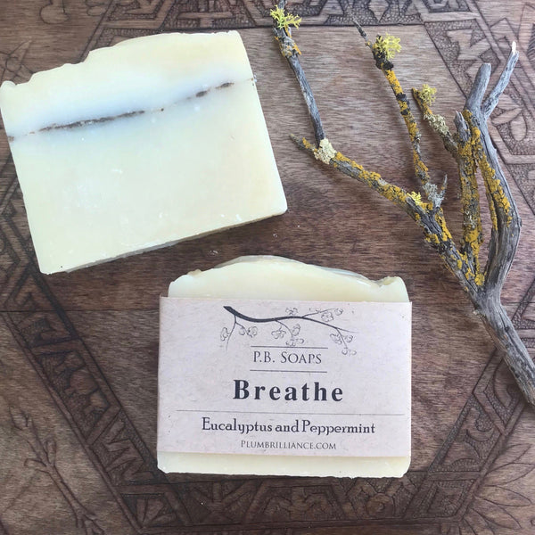 Breathe Soap Herbal Soap Plum Brilliance