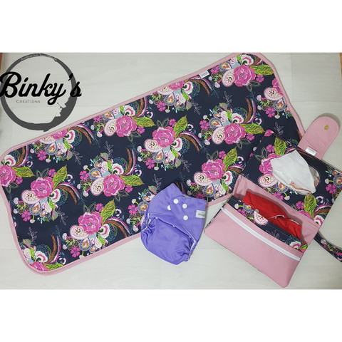 Custom nappy wallet & change mat bundle - Binky's creations