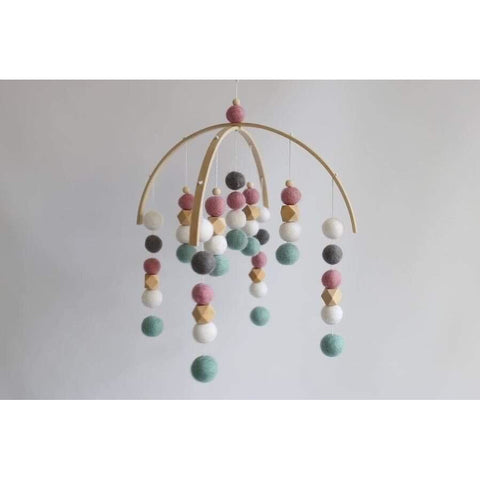Felt Ball Mobile - Binky's creations