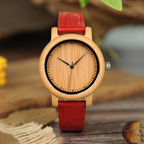 Women's Wristwatches | Leather Bands - Urban Bamboo
