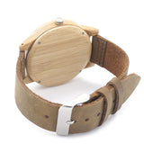 Logo Bamboo Wood Watch with Leather - Urban Bamboo