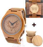 Antler Wooden Watch With Leather Strap for Men and Women - Urban Bamboo