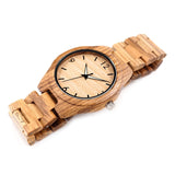 Zebra Wood Watch - Urban Bamboo