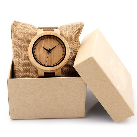 Bamboo Wood & Leather Watch - Urban Bamboo