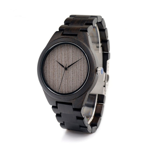 Blacked Out Wood Watch - Urban Bamboo