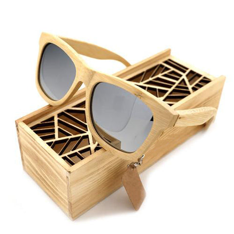 Polarized Retro Mirrored Sunglasses - Men - Urban Bamboo