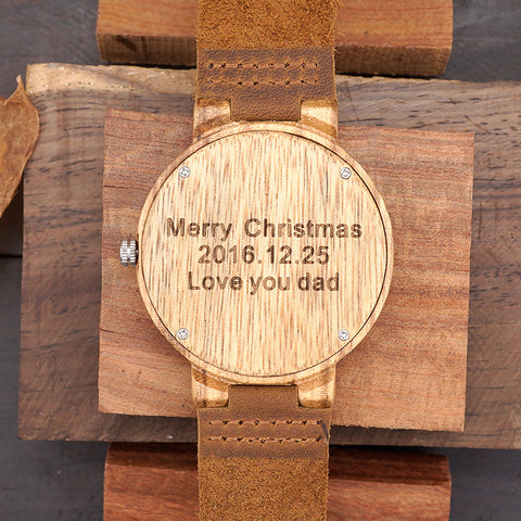 Engrave Back of Watch - Urban Bamboo
