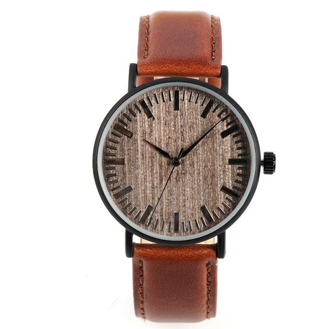 Wooden Watches - Leather Straps - Urban Bamboo