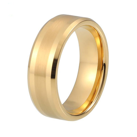 Gold Color Tungsten Wedding Ring - Urban Bamboo