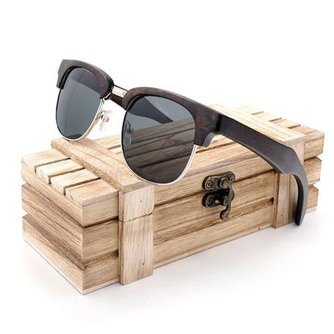Polarized Retro Wooden Sun Glasses - Urban Bamboo