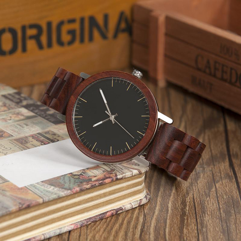 Men's Rose Wooden Watches - Urban Bamboo
