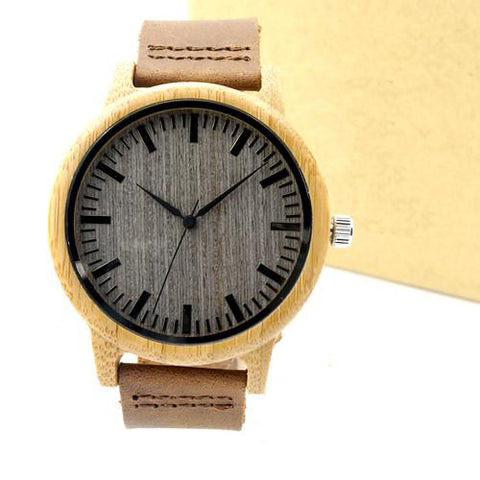 Luxury Bamboo Wood Watch - Men/Women - Urban Bamboo