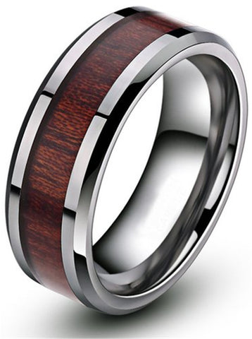 The One Wood and Tungsten Ring - Urban Bamboo