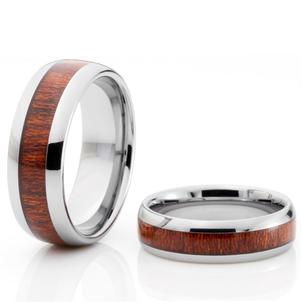 Tungsten & Mahogany Wood Ring - Urban Bamboo