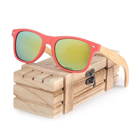 Red Framed Sunglasses for Women - Urban Bamboo