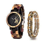 Women's Quartz Watches + Bracelet - Urban Bamboo