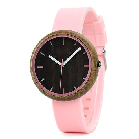 Wooden Silicone Band Wristwatches - Urban Bamboo