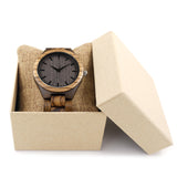 Zebra and Ebony Wood Watch - Urban Bamboo