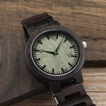 C30 Ebony Wood Watch For Mens - Urban Bamboo