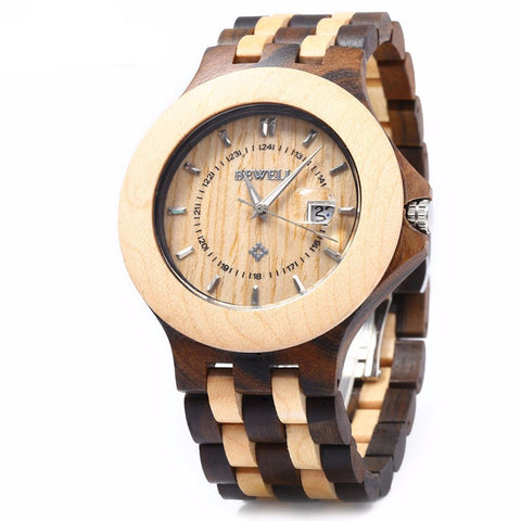 Unique Luxury Wooden Watch - Men - Urban Bamboo