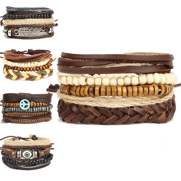 Multi-Layer Vintage Wood Bracelet - Urban Bamboo