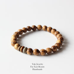 Natural Wood Stretch Bracelet - Urban Bamboo