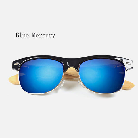 Retro Bamboo Sunglasses - Blue Mercury - Urban Bamboo