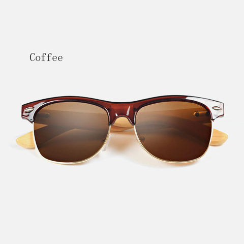 Retro Bamboo Sunglasses - Coffee - Urban Bamboo