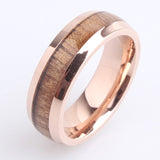 Hint of Rose Stell and Wood Ring - Urban Bamboo
