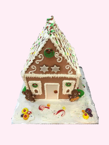 Christmas Cake (Gingerbread House with Gingerbread Man)