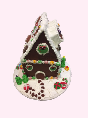 Christmas Cake (Gingerbread House Round-base)
