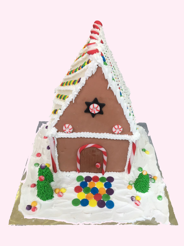 Christmas Cake (Gingerbread House Square-base)