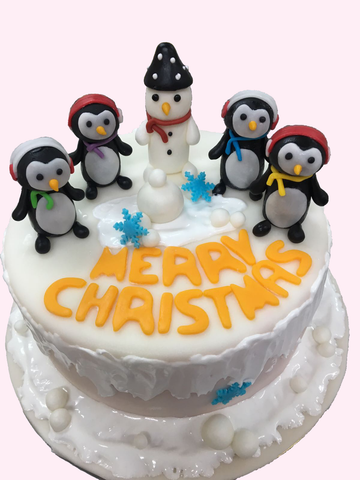 Christmas Cake (Penguins)