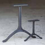* WB730 Wishbone Dining Table Legs, Cast Iron, 2 pack - RustyDesign