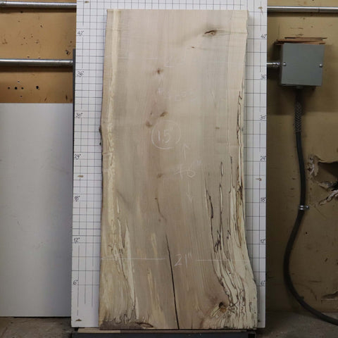 Spalted Maple Live Edge #4Z03